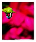 Rose Bud After Rain Fleece Blanket