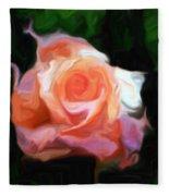 Rose Colored Fleece Blanket