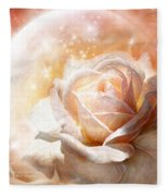 Rose - Colors Of The Moon Fleece Blanket