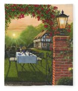Rose Cottage - Dinner For Two Fleece Blanket
