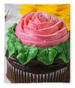 Rose Cupcake Fleece Blanket