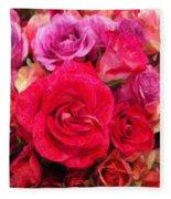 Rose Enhanced Fleece Blanket