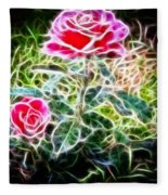 Rose Expressive Brushstrokes Fleece Blanket
