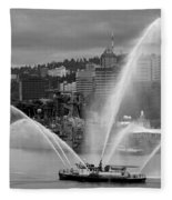 Rose Festival Fire Boat Fleece Blanket