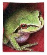 Rose Frog Fleece Blanket