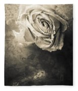 Rose From Another Day Fleece Blanket