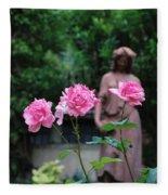 Rose Garden 3 Fleece Blanket