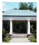 Rose Garden Pergola In Delaware Park Buffalo Ny Oil Painting Effect Fleece Blanket