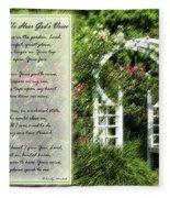 Rose Garden Prayer Fleece Blanket