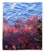 Rose Hips By The Seashore Fleece Blanket