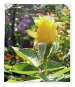 Rose In A Bubble Digital Art Fleece Blanket