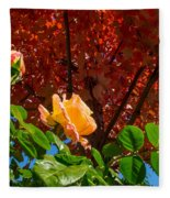Rose In Autumn Fleece Blanket