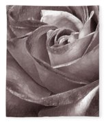 Rose In Black And White Fleece Blanket