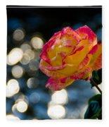 Rose In Dappled Afternoon Light Fleece Blanket