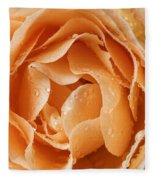 Rose In Rain Fleece Blanket