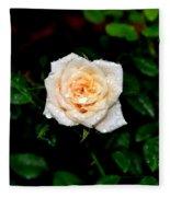 Rose In The Rain Fleece Blanket