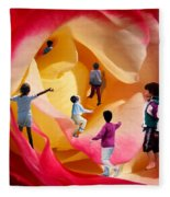 Rose Labyrinth Fleece Blanket