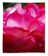 Rose Like A Lotus Flower Fleece Blanket