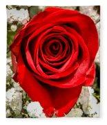 Rose Macro 1 Fleece Blanket