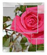 Rose Montage Fleece Blanket