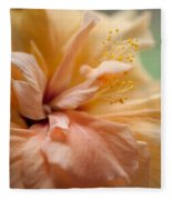 Rose Of Sharon. Hibiscus Fleece Blanket