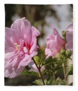 Rose Of Sharon Fleece Blanket