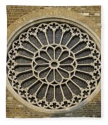 Rose Of The Cathedral Of San Giusto Fleece Blanket