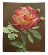 Rose On Thornridge Road Fleece Blanket