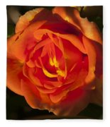 Rose Orange Fleece Blanket