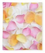 Rose Petals Background Fleece Blanket
