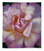 Rose Petals Straight From My Heart Fleece Blanket