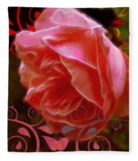 Rose Rose And Rose Fleece Blanket