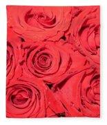 Rose Swirls Fleece Blanket