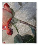 Rose To The Side 4 Fleece Blanket