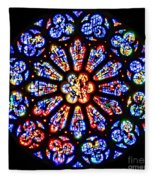 Rose Window Of Grace Cathedral By Diana Sainz Fleece Blanket