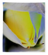 Rose Yellow Fleece Blanket