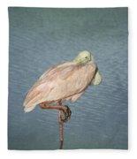Roseate Spoonbill Fleece Blanket
