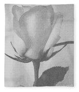 Rosebud Sketch No 1 Fleece Blanket
