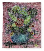Roses And White Lilacs Digital Painting Fleece Blanket