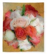 Roses Antiqua Fleece Blanket