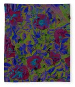Roses By Jrr Fleece Blanket