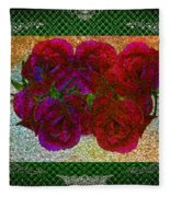 Roses- Featured In Beautiful Roses And Comfortable Art Groups Fleece Blanket