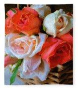 Roses Florentine Fleece Blanket