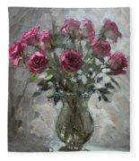 Roses For Viola Fleece Blanket