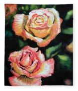 Roses I Fleece Blanket
