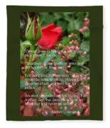 Roses In Heaven Fleece Blanket
