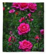 Roses In The Garden Fleece Blanket