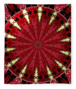 Roses Kaleidoscope Under Glass 11 Fleece Blanket