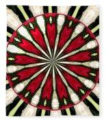 Roses Kaleidoscope Under Glass 17 Fleece Blanket