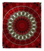 Roses Kaleidoscope Under Glass 18 Fleece Blanket